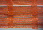 China Industrial Portable Orange Plastic Mesh Barrier Fence Netting For Open Excavations company