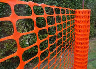 High Visablity Orange Plastic Safety Fence With Barrier Tape / Traffic Cones