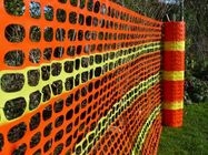 China Crowd Control Orange Plastic Construction Netting For Sport Event 60g/m2 - 200g/m2 factory