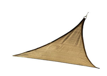 China 12'x12'x12' Beige Triangle Garden Sun Canopy Sail For Sport Centers And Pools factory