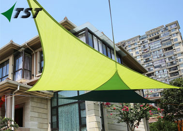 China Green Color Polyester Outdoor Shade Sails , Canvas Shade Canopy 160gsm-350gsm Weight factory