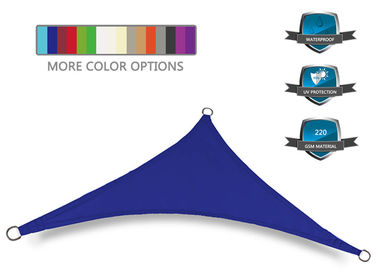 China 160gsm Waterproof Garden Shade Sail Royal Blue For Patio 300D Density factory