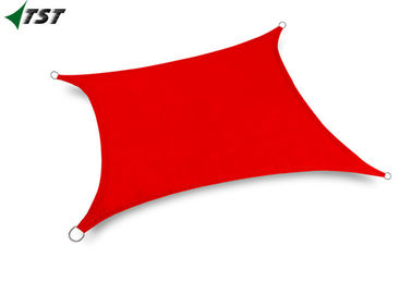 Waterproof Polyester Red Color Rectangle Sun Shade Sail For Outdoor Canopy Patio
