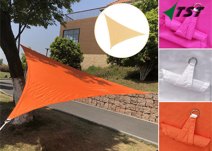 Water Resistant Triangle Shade Sail Red Color Cool Patio Sun Shade Canopy
